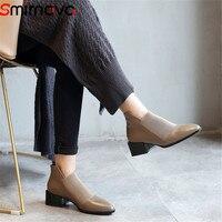 Smirnova/Лидер продаж, модная Осенняя обувь, 2018 г. женские ботинки, цвета хаки, ботильоны для женщин, элегантные ботинки из натуральной кожи с ост