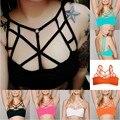 5 Cores 2016 Verão New Sexy Mulheres Push Up Acolchoado Bra Cortar Parte Superior Do Tanque Cami Bralette Enjaulado Cortada Bustier Camisole