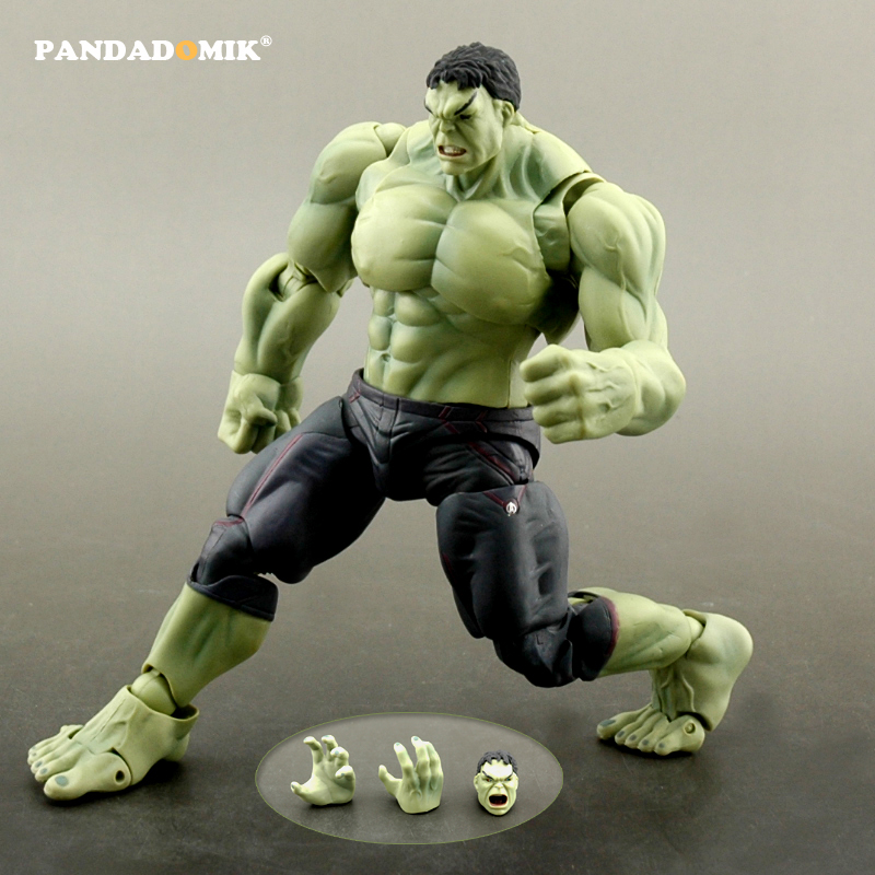 Pandadomik New Hulk Action Figure Super Heroes Avengers Kids Toys Action Toy Figures Doll Collectible Gift Toy for Boys new hot 22cm avengers super hero hulk movable action figure toys christmas gift doll with box
