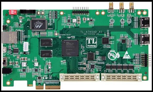 Artix-7 high speed FPGA acquisition card supporting TMS320C6657/C6655/C6678 development board vostro