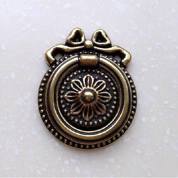 48mm gota Temblorosa anillo de latón antiguo cajón zapato gabinete ...