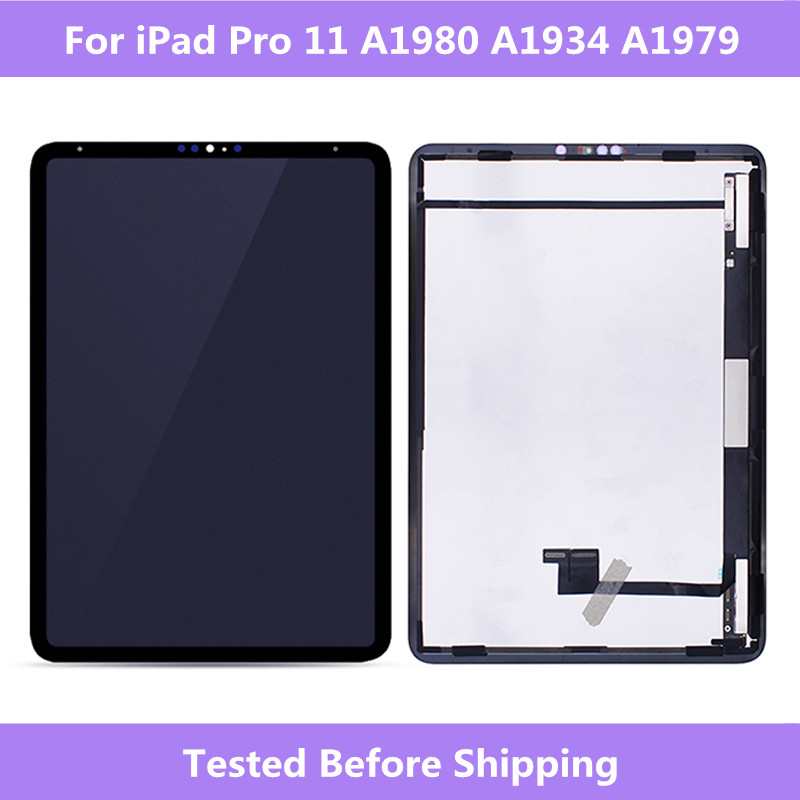 Black LCD Full Screen For iPad Pro 11 A1980 A1934 A1979 LCD display Touch screen Assembly