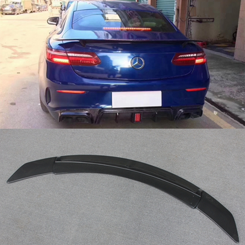 E Coupe <font><b>C238</b></font> W238 Carbon Fiber <font><b>Spoiler</b></font> For Mercedes 2017-2018 Bootlid Rear Trunk Lip RT Style E350 E400 E320 Amg line image