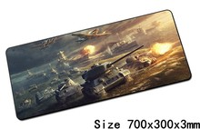 World of tanks mouse pad 700x300x3mm pad mouse notbook computer padmouse wot gaming mousepad gamer to keyboard mouse mats