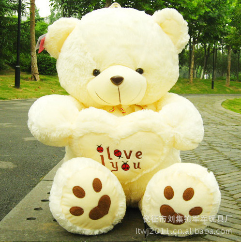 Hot 70CM Giant Huge Big Soft Plush White Teddy Bear Halloween Christmas Gift Valentine's Day Gifts