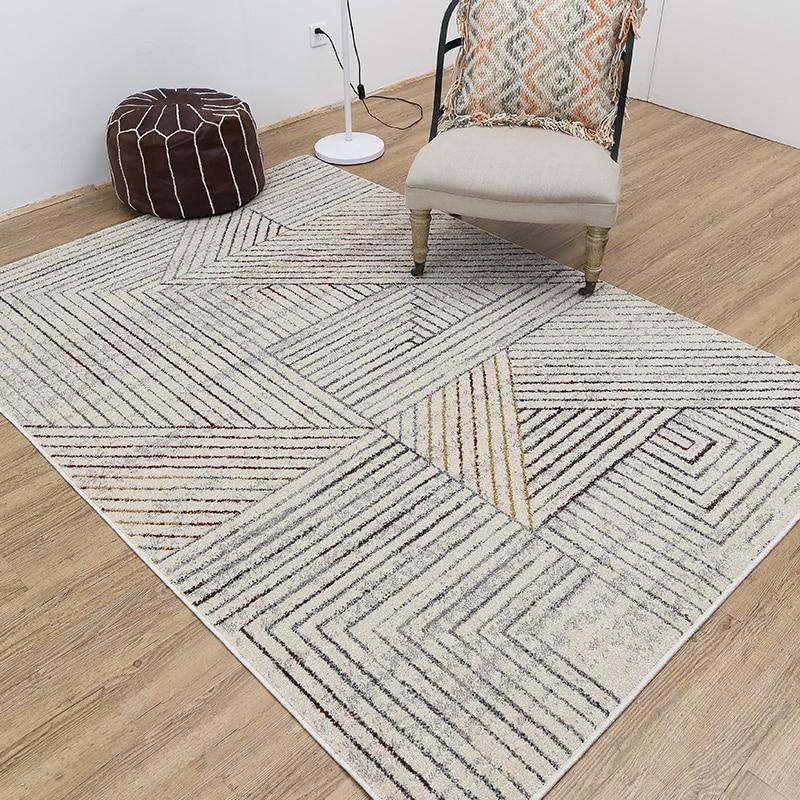 Nordic minimalist style rug modern geometric living room sofa coffee table mats bedroom bedside rectangle