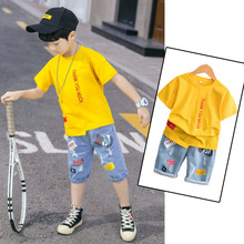 Детский спортивный костюм для мальчиков, комплекты одежды г. Летняя одежда для маленьких мальчиков комплект из 2 предметов одежда для детей 5, 6, 7, 8, 9, 10, 12 лет