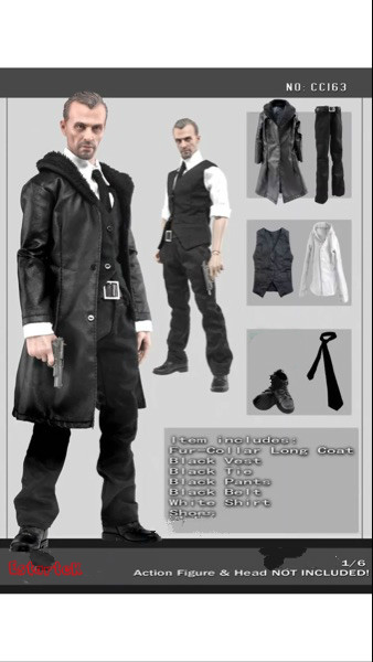 Tireless Estartek-df Cc163 1/6 Mens Leather Overcoat Suit Costume Set For 12 Collectible Action Figure Diy Toys & Hobbies