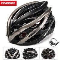 KINGBIKE 자전거 사이클링 헬멧 MTB 사이클링 헬멧 바이저가있는 초경량 인 몰드 티타늄 통기성 도로 산악 자전거 헬멧 자전거 헬멧 스포츠 & 엔터테인먼트 -