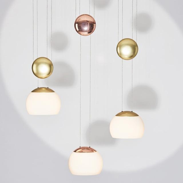 Post-modern LED Lifting pendant lights for bedroom Living room Nordic glass restaurant Pendant lamp LED hanging lamps lighting