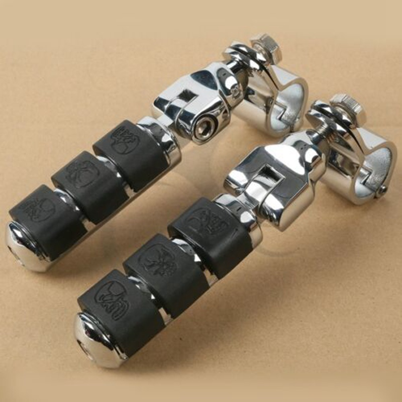 Motorcycle Universal Front Left & Right Footrest Foot Pegs For Honda Kawasaki Suzuki Yamaha Harley 30mm