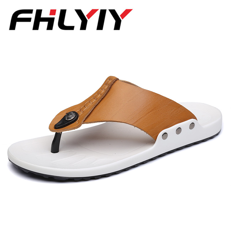 Summer Mens Leather Sandals Fashion Casual Male Sandals Genuine Leather Men Sandals Summer Men Shoes Beach Zapatillas Hombre