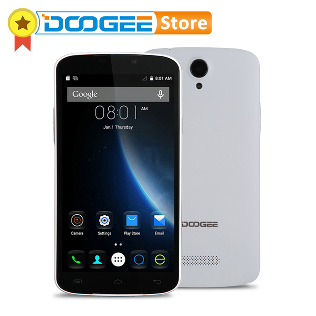 Оригинал DOOGEE X6 5.5 Дюймов 1280 x 720 MTK6580 Quad Core Android 6.0 Смартфон RAM 1Гб ROM 8Гб A-GPS WIFI 3G WCDMA