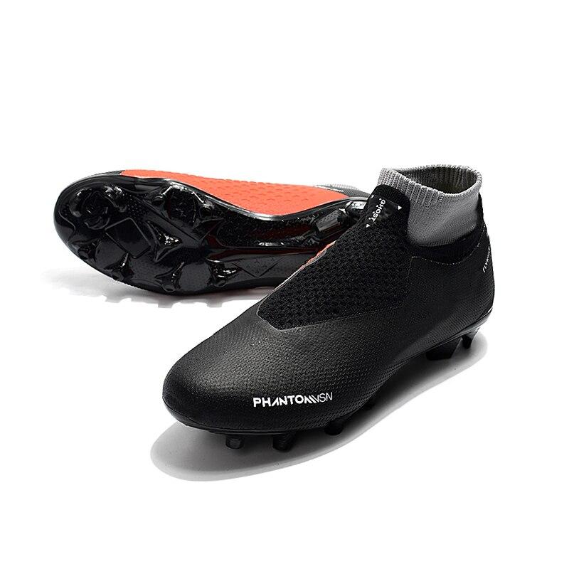 Sufei Football Chaussures Hommes Elite FG Haute Cheville Sol Ferme chaussures de Football Superfly Original FG chaussures de Sport En Plein Air Pas Cher Chaussette Crampons