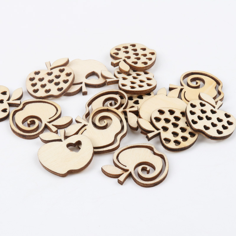 Natual Wooden Apple Pattern Scrapbooking Art Collection Craft for Handmade Accessory Sewing Home Decoration 30mm 20pcs MZ171Natual Wooden Apple Pattern Scrapbooking Art Collection Craft for Handmade Accessory Sewing Home Decoration 30mm 20pcs MZ171