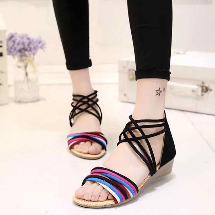 4519c54f5b41ca Detail Feedback Questions about mokingtop womens sandals flat Women Summer  Bohemia Slippers Flip Flops Flat Sandals Beach Thong Shoes    on  Aliexpress.com ...