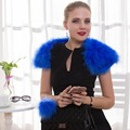 Turkey Feather Pashmina for Wedding Real Ostrich Fur Shawls Natural Fur Wraps Women Evening Dress Need Winter Fashion Shawl 100%