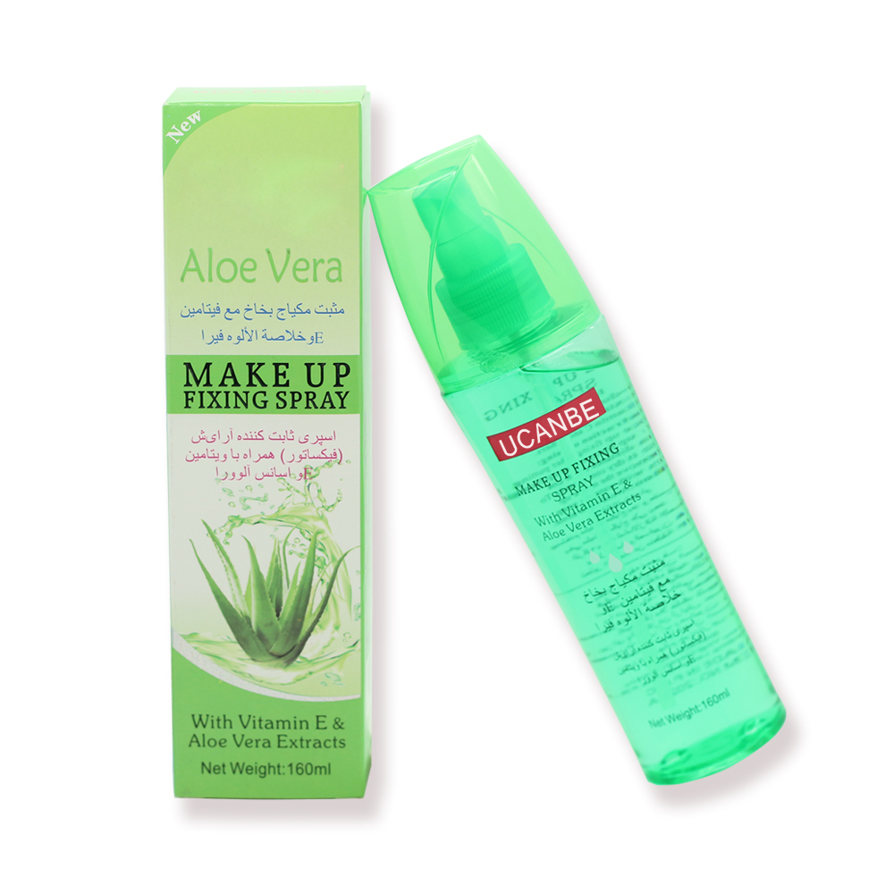 Korean Cosmetics Aloe Vera Make UP Fixing Spray Makeup Water Shrink Pores Cleanser Quick ...