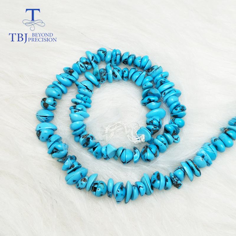 TBJ ,Natural American turquoise loose beads for DIY gemstone jewelry,design for your jewelry,price for one strand