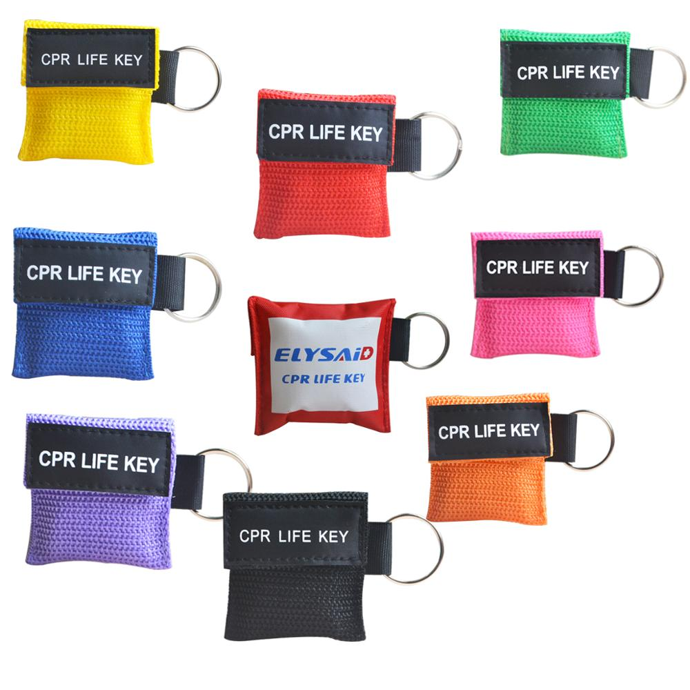100Pcs/Lot First Aid Cpr Mask Cpr Resuscitator Emergency Rescue Face Shield Mask With Keychain Color Mixture100Pcs/Lot First Aid Cpr Mask Cpr Resuscitator Emergency Rescue Face Shield Mask With Keychain Color Mixture