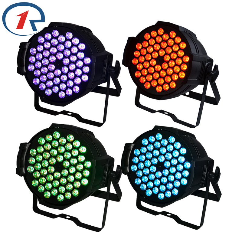 ZjRight 4pcs/lot 90W colorful 54 LED Par light DMX512 Sound control PRO LED stage light for Music concert bar dj disco lighting zjright 90w rgb fullcolor 54 led par light dmx512 concert decor lights sound control pro stage party dj holiday ktv disco light