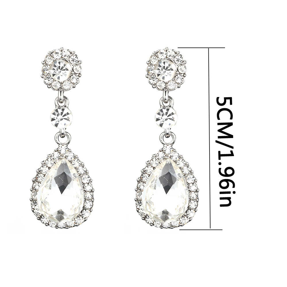 Crystal Wedding Earrings for Women bridesmaids Fashion Rhinestone Bridal Earrings 2018 water drop earing Luxury  Wedding Jewelry