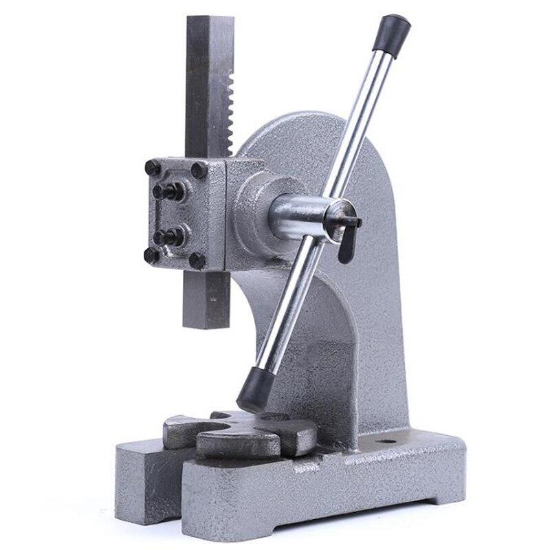 1Ton El zımba pres makinesi 10Kn El Basın Makinesi Manuel Masaüstü Metal Çardak Basın Aracı için dişli ve mil kollu disassemby title=