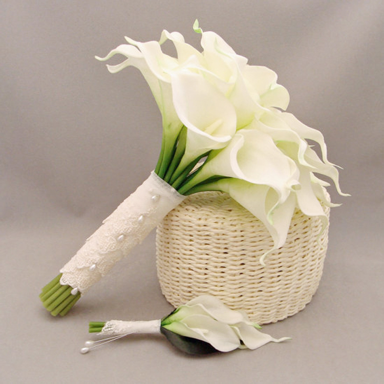 Pu artificial flower wedding flower bride holding flowers calla lily ...