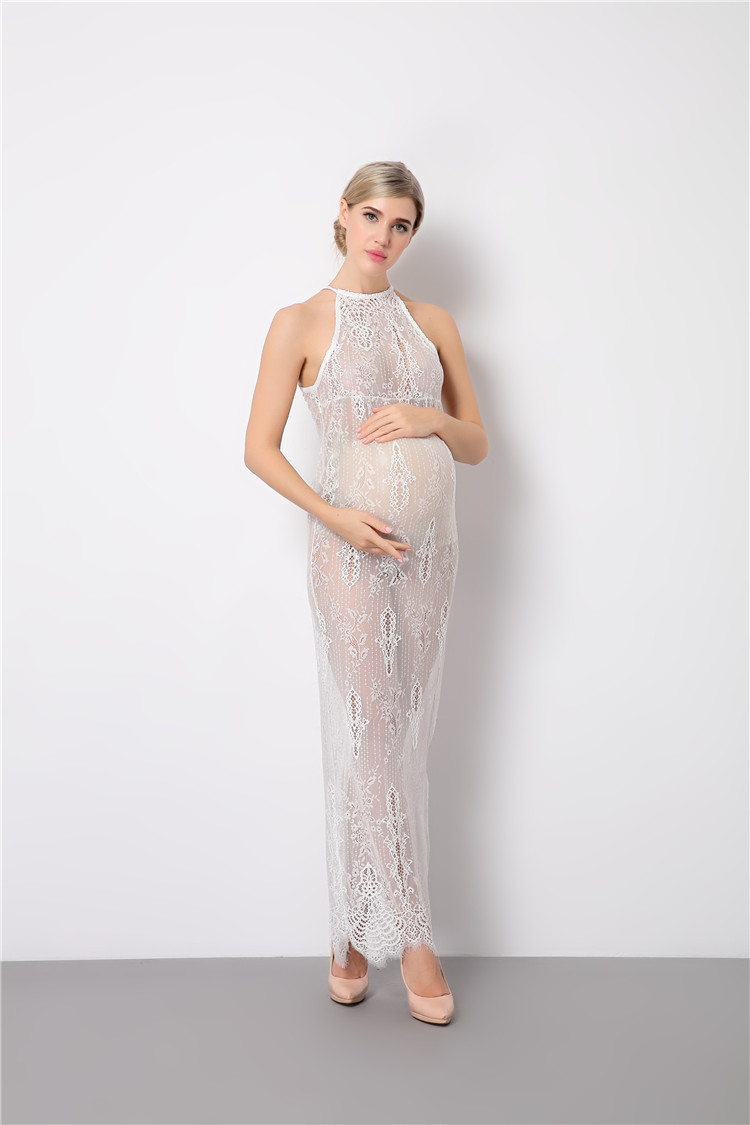White lace maternity dresses for photo shoot sheer pregnant hsy6656a hsy6663a ombrellifo Images