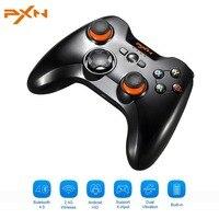PXN 9613 Dual Mode Wireless Gamepad Joystick Game Controller Wibracji Bluetooth 4.0 + 2.4G Pomoc Xin/Dinput Dla PC Dla Androida