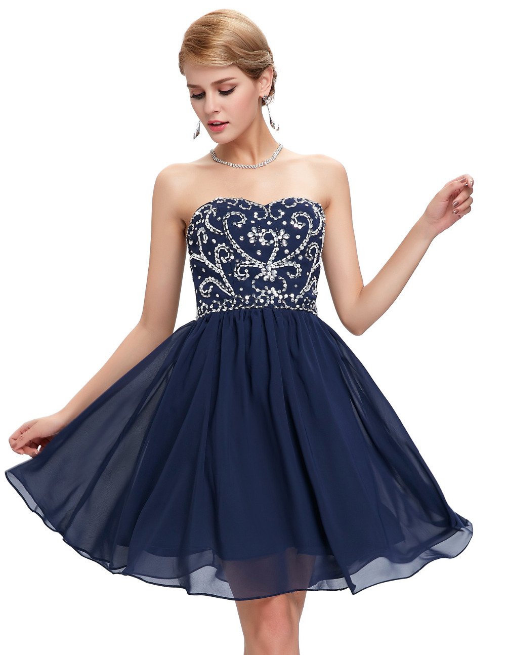 Aliexpress.com : Buy black Navy blue short prom dresses 2016 new ...