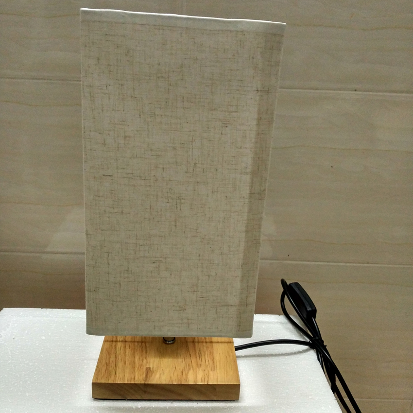 Modern Brief Table Lamp Wood Base Fabric Lampshade Dimmable Living Room Bedroom Wooden Table Lamps Fixtures Lamparas De Mesa Led Table Lamps