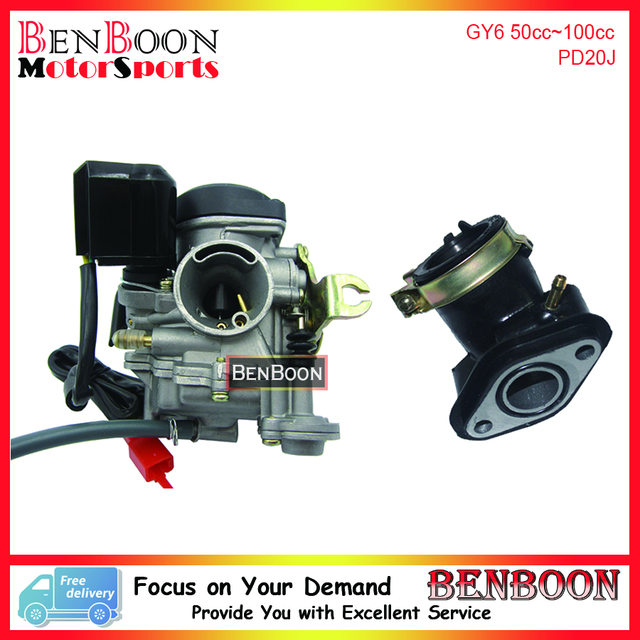 GY6 50cc PD20J Carburetor and Intake Manifold Pipe 139QMB Chinese Scooter Parts ATV Parts Znen Baotian_640x640 aliexpress com buy gy6 50cc pd20j carburetor and intake manifold taotao scooter parts diagram at bayanpartner.co