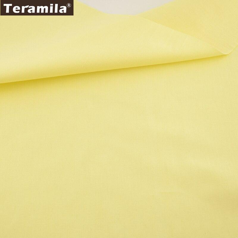 color sólido de color amarillo claro tela de sarga de algodón trimestre grasa m