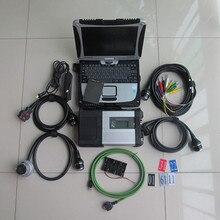 Супер MB Star C5 диагностический инструмент SD Подключение C5 с диагностическим программным обеспечением SSD 360GB V2019.9 с ноутбуком CF19 работа для Benz 12v+ 24v