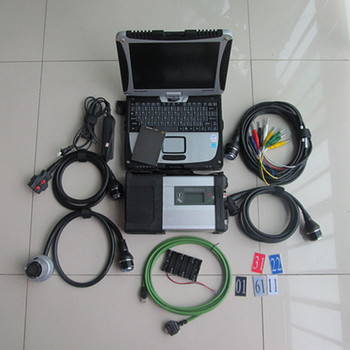 Super MB Star C5 Diagnostic Tool SD Connect C5 With Diagnosis Software SSD 360GB V2019.12 With Laptop CF19 Work for Benz 12v+24v