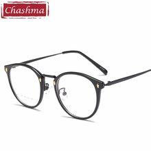 f275d1316 Chashma Marca 2018 Novo Chegando Mulheres Homens Óculos Redondos de Vidro Óptico  Óculos Femininos Quadro Óculos de Armação De Óc..