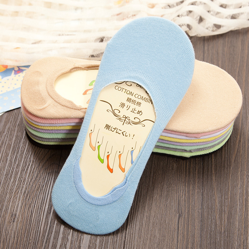 Ocean Bluevin Fashion Women Summer Sock Slippers New Summer Autumn Stealth Thin Shallow 10 Candy Colors Sexy Ladies Cotton Socks