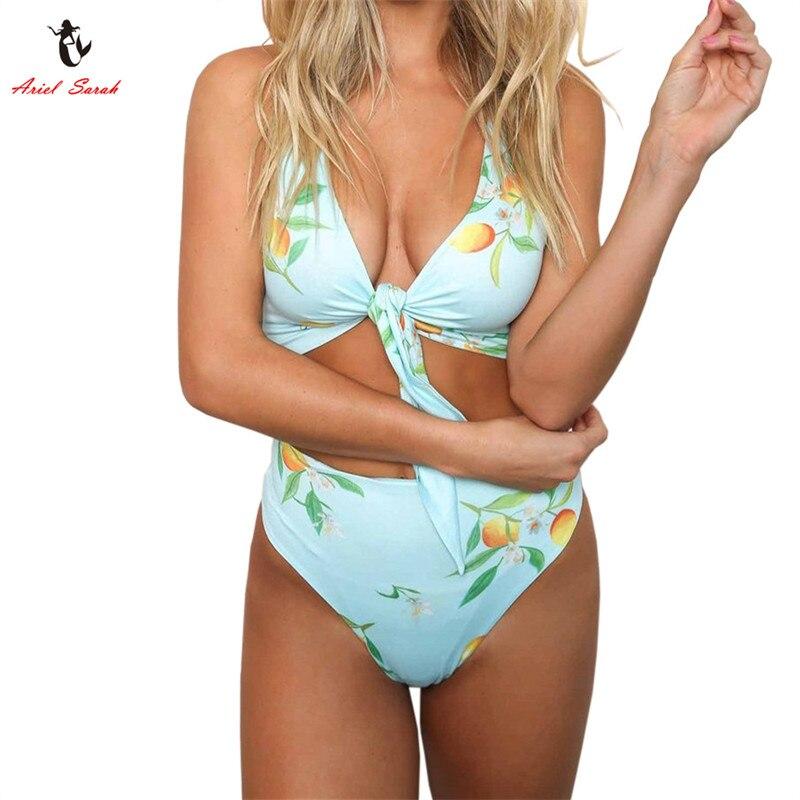 Ariel Sarah 2018 Bikini Sexy traje De baño Floral De las mujeres, el vendaje Bikini Maillot De Bain Femme