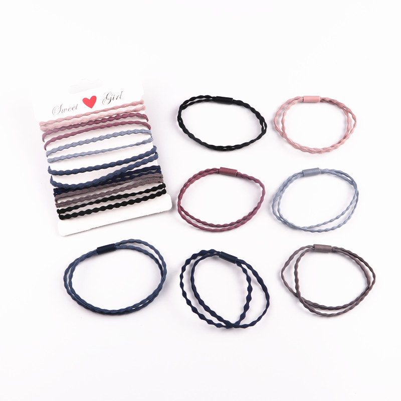 7Pcs/LOT hair accessories FOR girls and kids RUBBER BANDS BLACK WHITE 2017 The ponytail holder Elastic Hair Bands 4pcs ponytail creator plastic diy hair styling tools black hair bands for girls hair braid accessories bun maker girls headbands