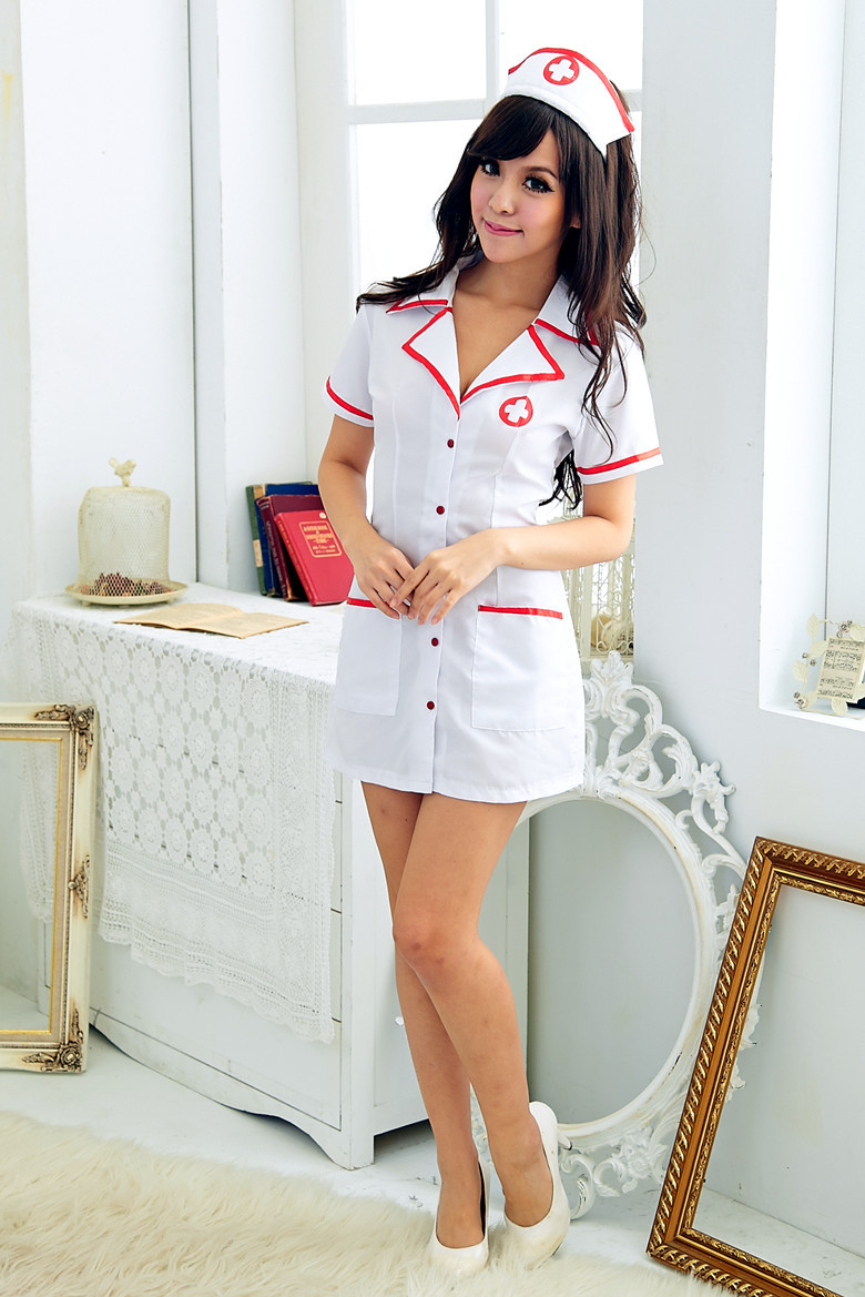 Sex lingerie prospetive nurse high quality women holloween cosply uniform -in Sexy Costumes from
