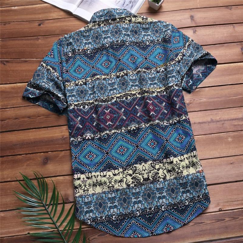 Casual Fashion Short Sleeve Button Down Shirts 3