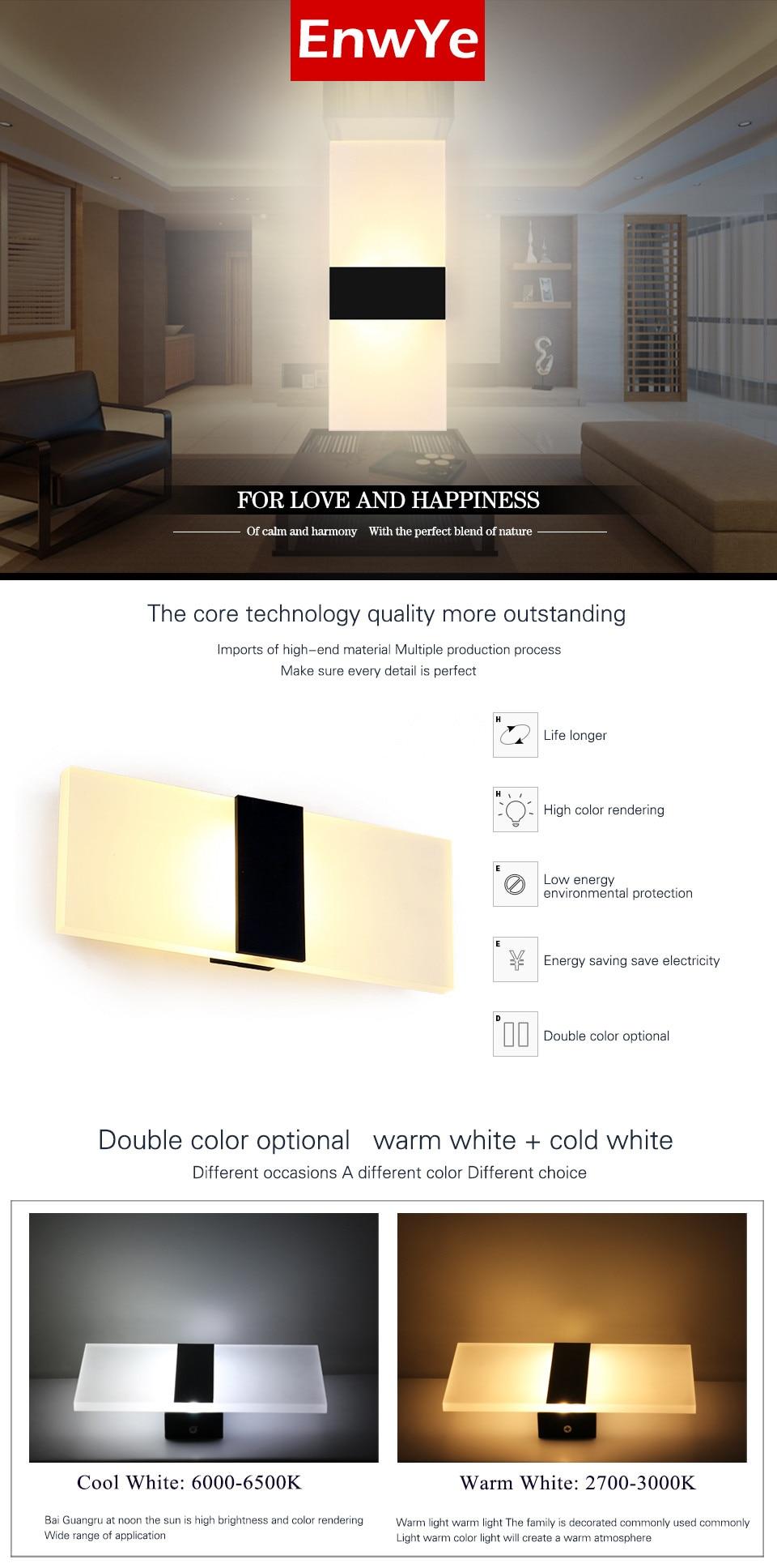 EnwYe Moderne 110 V 220 V Licht LED Wandleuchte Schlafzimmer ...