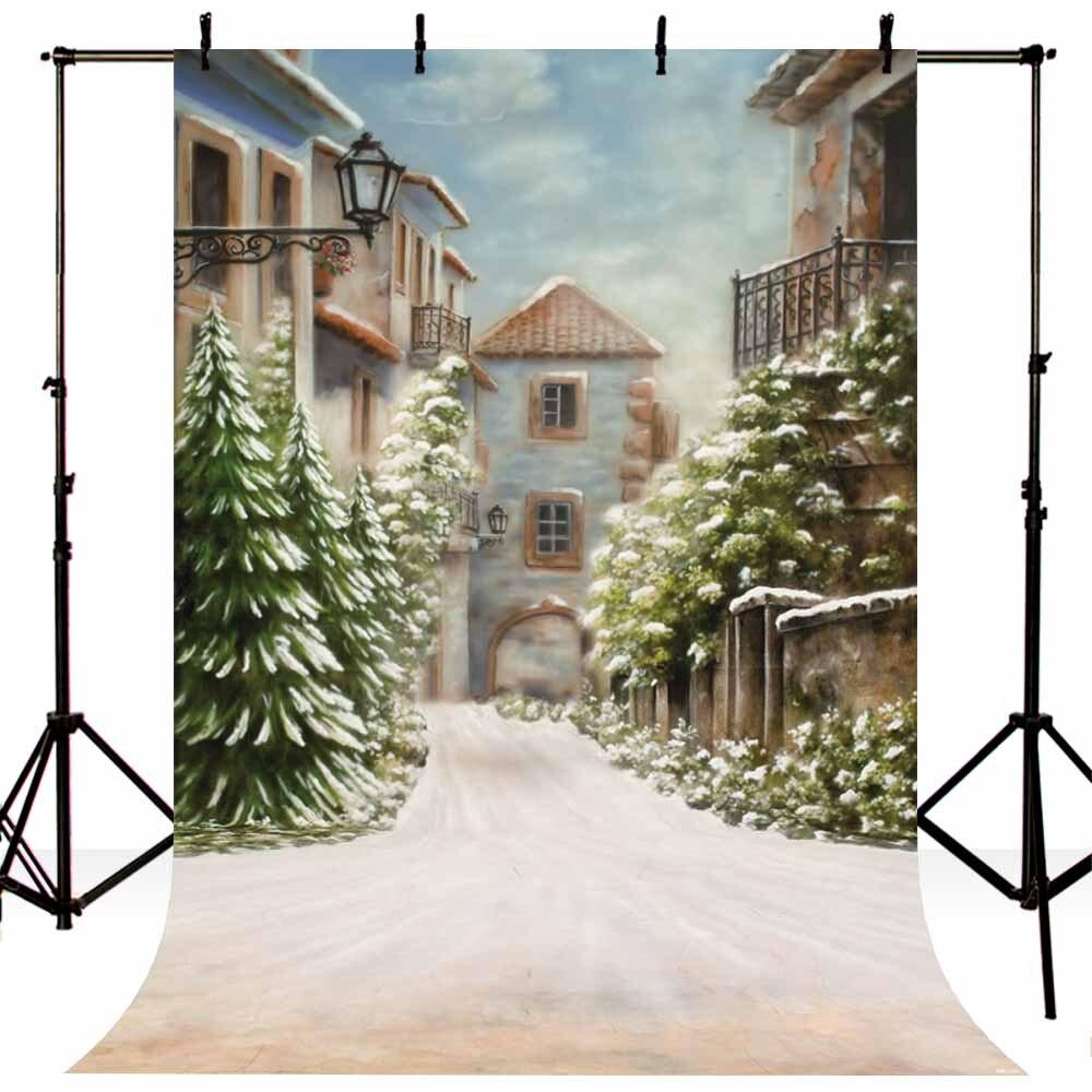 Natale Foto Fotografia Puntelli Sfondo Panno Vinile Sfondo Studio Neve O