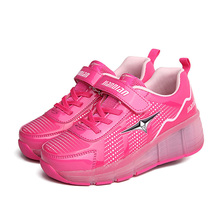 New Child Shoes Girls Boys LED Light Shoes Roller Skate Shoes For Children Kids Breathable Sneakers