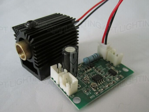 NEW 532nm 200mW Green Laser Module with Driver (808nm/532nm&660nm + TTL) +heat sink 200mw 532nm green laser module 3v 11 9mm