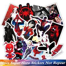 50pc/Pack Brand Cool Hero Spiderman Funny Luggage Sticker PVC Suitcase Travel Car Laptop Fridge Skate Motorcycle Guitar Stickers(China)