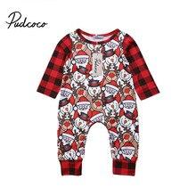Xmas Snowman Cute Jumpsuit Christmas Cartton Print Romper Child woman Garments new born child garments Woman Lengthy Sleeve Rompers