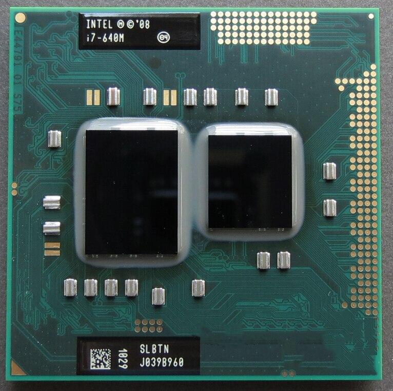 Оригинальный процессор I7 640m с двухъядерным процессором PGA 988, 2,8 ГГц, L3, 4 м, 2800 МГц, работает на HM55