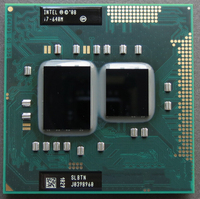 Original I7 640m I7 640m Dual Core 2 8GHz L3 4M 2800 Mhz BGA1288 CPU Processor